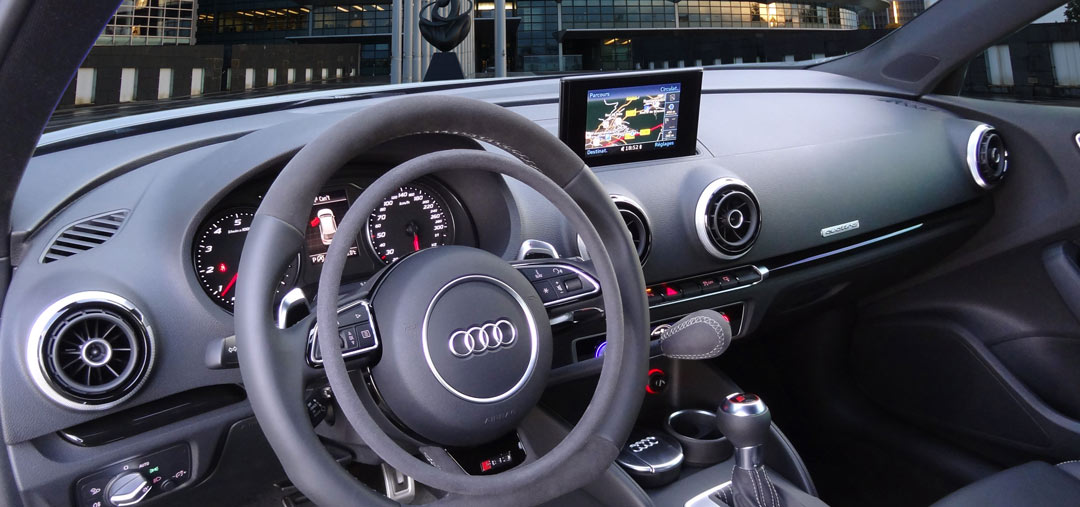 Audi RS3 with Darios digital hand controls for hand driven cars