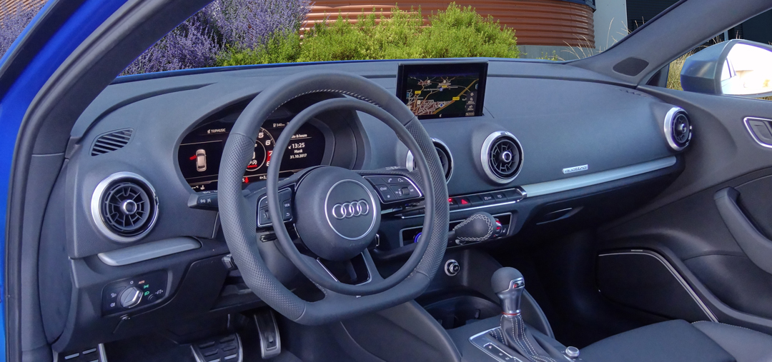 Audi S3 with digital accelerator ring and main hand brake for handicap driving