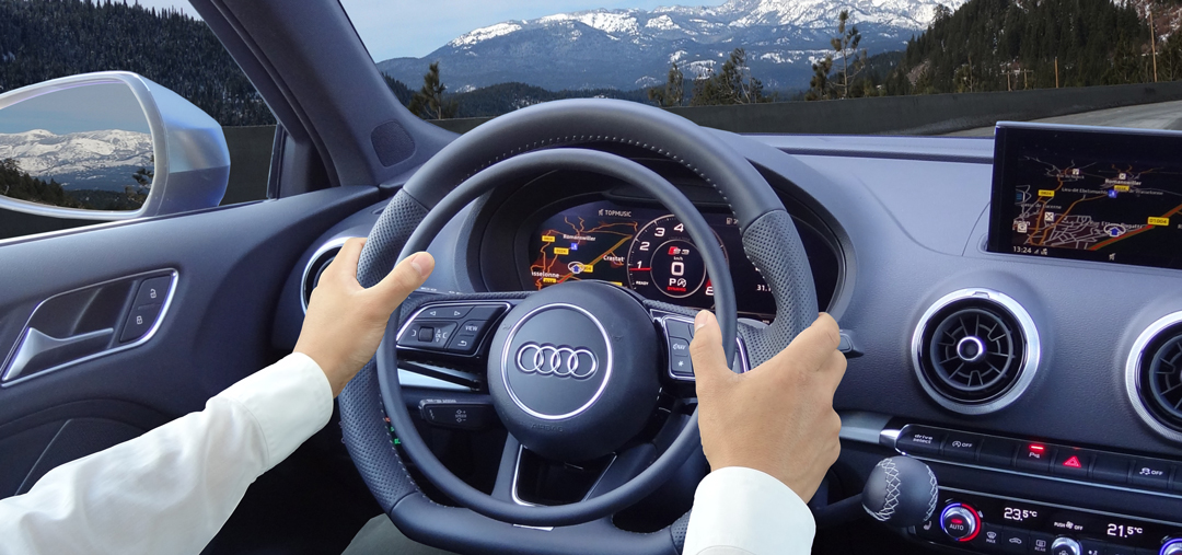 Audi S3 with car hand control for driver with disability