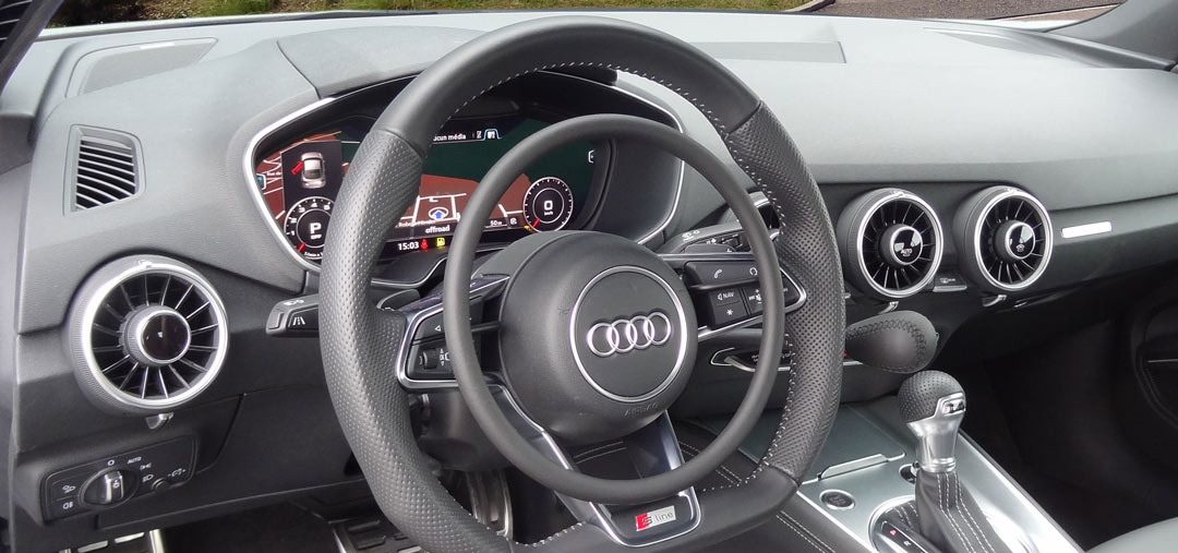 Audi TT with car hand controls for disabled drivers