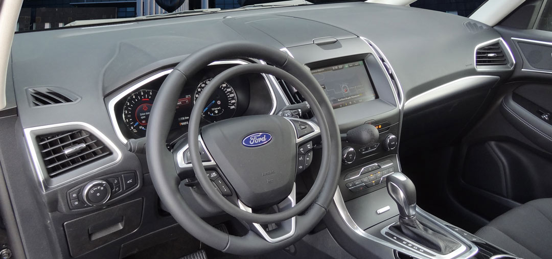 Ford S-Max with handcontrol for accelerator and brake