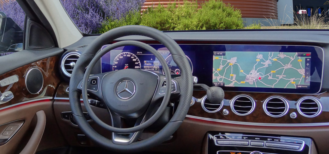 Mercedes E-Class with digital hand controls by Kempf