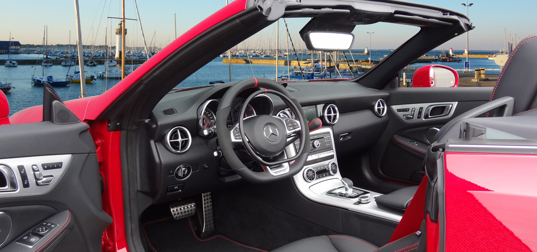 Mercedes SLC with hand controls for disabled drivers