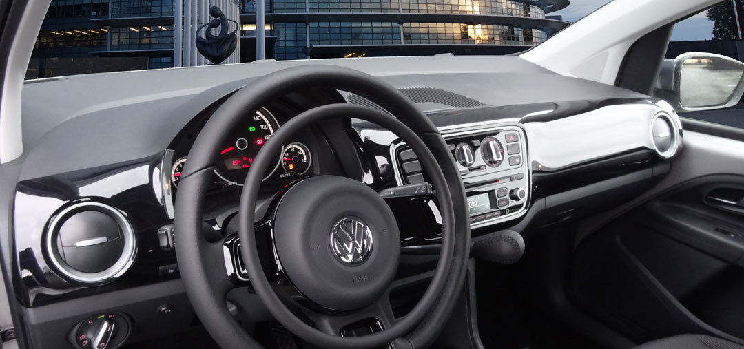 Volkswagen Up! with digital hand controls for cars by Kempf