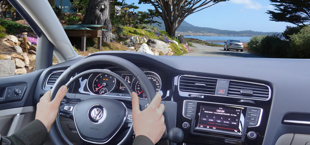 Volkswagen Golf with digital hand controls by Kempf