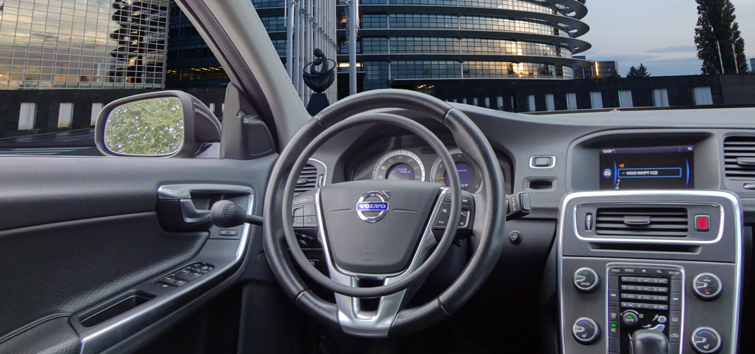 Volvo S60 with hand controls for disabled drivers
