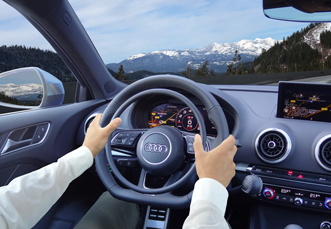 Audi S3 with digital hand controls for handicap driving