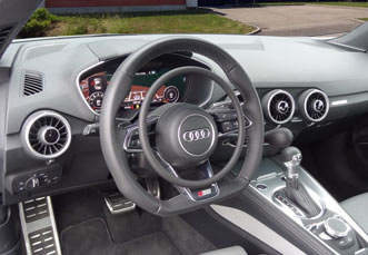 Audi TT with hand controls for drivers with handicap