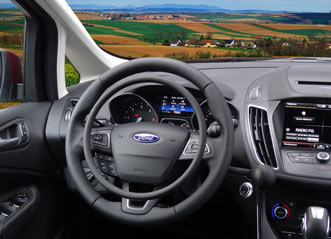 Ford C-Max with digital hand controls for gas and brake