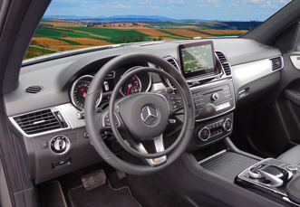 Mercedes GLA with digital hand controls for disabled drivers