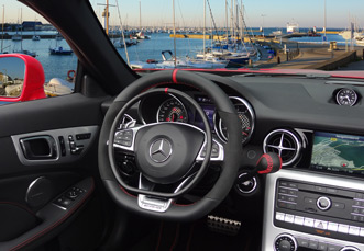 Mercedes E-Class with digital hand controls Darios by Kempf