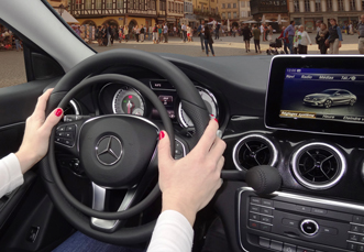 Mercedes CLA with car hand controls for disabled drivers