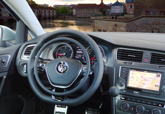 VW Golf Alltrack with hand controls