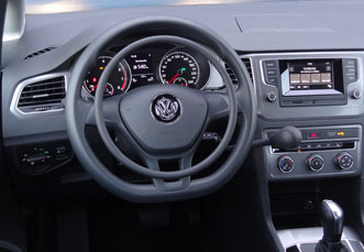VW Sportsvan with car hand controls by Kempf