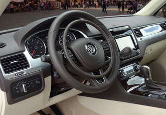 VW Touareg with digital hand controls