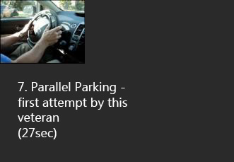 parallel parking with kempf hand controls