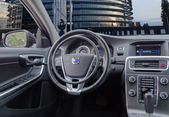 Volvo S60 with digital hand controls for disabled drivers