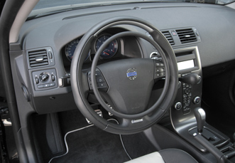 Volvo V-50 with hand controls for disabled driver