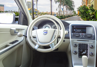 Volvo XC60 with digital hand controls