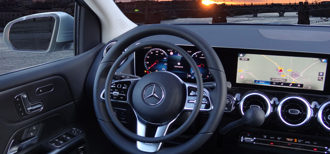 Mercedes B-Class with digital hand controls by Kempf